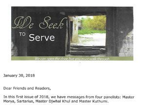 We Seek To Serve Newsletter